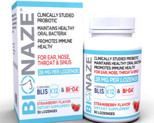 Bionaze product next to it's packaging.