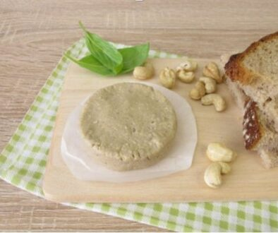 Vegan cheese made from cashew nuts