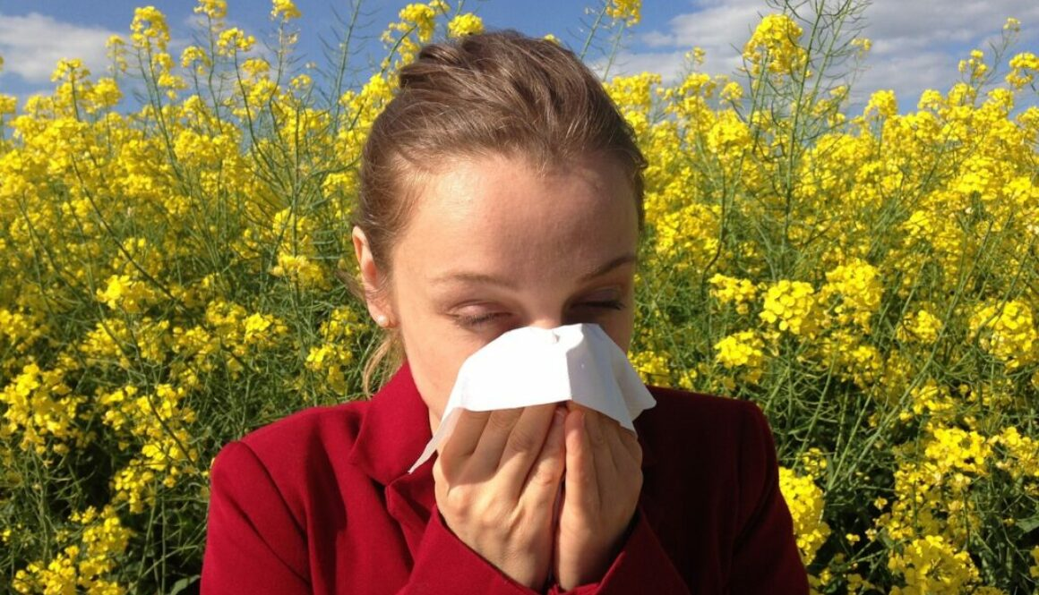 Woman suffering from allergy
