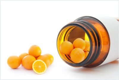 Vitamin C supplements and oranges