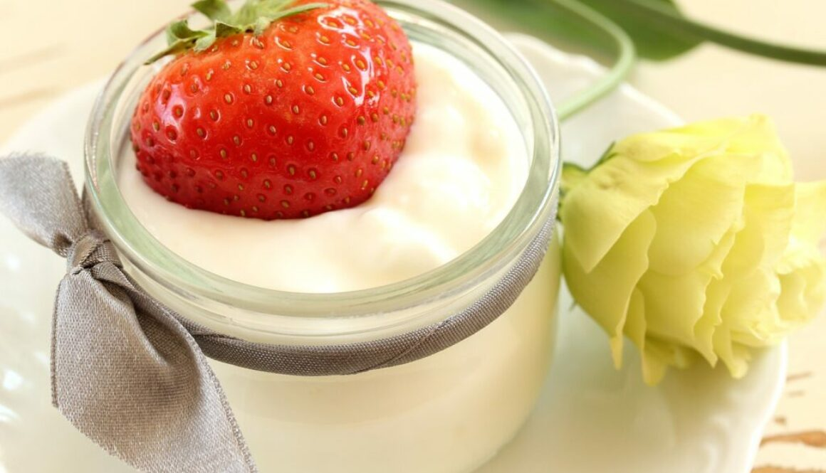 A jar of plain yogurt for a Keto diet.